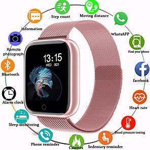 povoljno Pametni satovi-Smart Satovi Šiljci za meso Silikon Vodootpornost Heart Rate Monitor Bluetooth Šiljci za meso Luksuz Moda - Crn Crna / Bijela Rose Gold