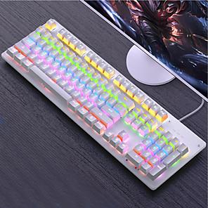 olcso Billentyűzetek-mechanikus játék billentyűzet fém világító kulcsok játékos asztali laptop