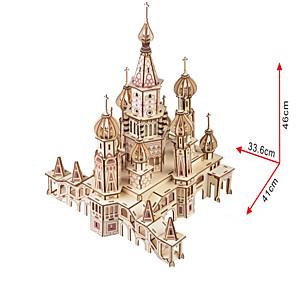ieftine Diode-Puzzle 3D Puzzle Μοντέλα και κιτ δόμησης Castel Clădire celebru De lemn Lemn natural Adulți Unisex Jucarii Cadou