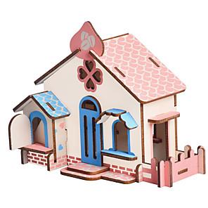 povoljno USB gadgeti-3D puzzle Puzzle Építőjátékok Kuće Moda Kuća Djecu New Design Rasprodaja 1 pcs Klasik Suvremena suvremena Moda Dječji Odrasli Dječaci Djevojčice Igračke za kućne ljubimce Poklon / Drveni modeli