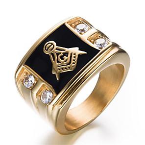 povoljno Prstenje-Muškarci Prsten 1pc Zlato Srebro Tikovina Geometric Shape Moda Dnevno Praznik Jewelry Geometrijski Cvijet Cool
