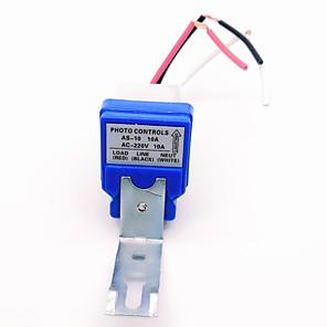 ieftine Întrerupătoare-as-10 ac220v 10a comutator automat cu inducție lampă stradală lumină optică impermeabilă