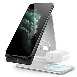 Недорогие Беспроводные зарядные устройства-Беспроводное зарядное устройство на 10 Вт 1 порт USB 2 / 1,67 А постоянного тока 9 В / 5 В для Apple Watch серии 4/3/2/1 iphone 11 / iphone 11 pro / iphone 11 pro max