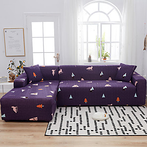 cheap Apple-Triangle Print Dustproof All-powerful Slipcovers Stretch Sofa Cover Super Soft Fabric Couch Cover with One Free Pillow Case