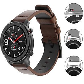 ieftine Accesorii Ceasuri-bandă de ceasuri de piele de lux pentru huami amazfit gtr 47mm / amazfit stratos 3 / gtr 42mm / gts / bip lite / ceas de viteză / stratos 2 2s bratara înlocuibil curea de încheietură