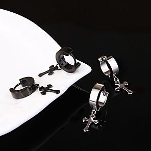 hesapli Küpeler-Erkek Kadın's Küpe Klasik Mini Küpeler Mücevher Siyah / Gümüş Uyumluluk Noel Parti Yıldönümü Karnaval Festival 1pc