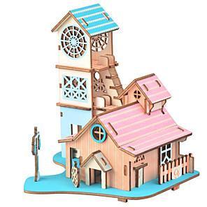 ieftine Carcase iPhone-Puzzle 3D / Puzzle / Μοντέλα και κιτ δόμησης Clădire celebru / Mobila / Casă Reparații / Simulare De lemn Clasic Pentru copii Unisex Cadou