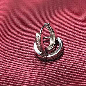 ieftine Cercei-Bărbați Cercei cu Clip Clasic Prețios Simplu Modă Argilă cercei Bijuterii Argintiu Pentru Zilnic Stradă 1 Pair