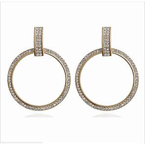 ieftine Cercei-Pentru femei Transparent Zirconiu Cubic Cercei Picătură Clasic Norocos Simplu Stil Atârnat La modă Modă Modern Diamante Artificiale cercei Bijuterii Auriu / Argintiu Pentru Cadou Zilnic Strad