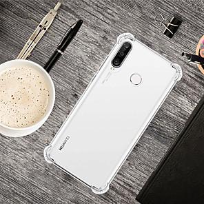 Недорогие Чехлы и кейсы для Huawei-Кейс для Назначение Huawei Huawei P20 / Huawei P20 Pro / Huawei P20 lite Защита от удара Кейс на заднюю панель Прозрачный ТПУ