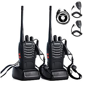ieftine Walkie Talkies-2 buc walkie talkie baofeng bf-888s 2800mah 16ch uhf 400-470mhz baofeng 888s ham radio hf transceiver amador portabile interfonuri super sunet calitate programare căști microfon de mână