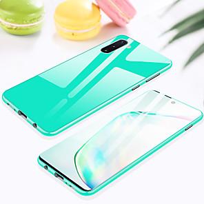 baratos Capinhas para Galaxy Série S-Capinha Para Samsung Galaxy S9 / S9 Plus / Note 9 Antichoque Capa Proteção Completa Transparente / Sólido Metal