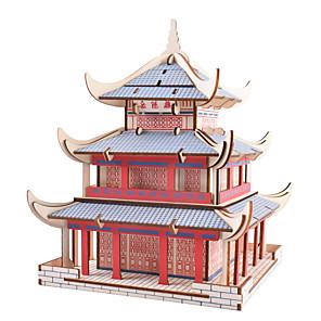 hesapli İnşaat ve Bloklar-3D Yapbozlar Yapboz Ahşap Yapbozlar Metal Yapbozlar Modely Ahşap Modeller Ünlü Binası Çin Mimarisi uyumlu Metalik Legoing Yaratıcı Havalı Kendin-Yap Şık & Modern Zarif & Lüks Çin Tarzı Özel Gen
