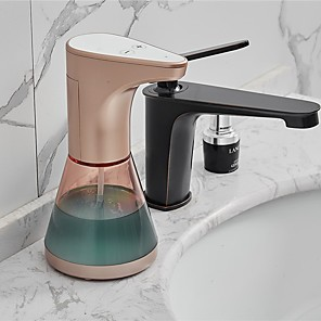 abordables Rangement de Cuisine-Distributeur de savon à induction automatique Distributeurs de lotion à capteur sans contact pour cuisine Distributeurs de savon de comptoir de salle de bain Shampooing désinfectant 480 ml ZYQ20