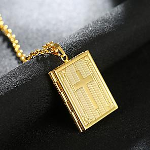 ieftine Bijuterii de Păr-Bărbați Pentru femei Coliere cu Pandativ Charm Colier Clasic Σταυρός Medalion Prețios Design Unic Modă Argilă Placat Auriu Crom Auriu Argintiu 55 cm Coliere Bijuterii 1 buc Pentru Zilnic Stradă Muncă