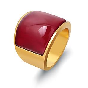 povoljno Prstenje-Muškarci Band Ring 1pc Obala Crvena Titanium Steel Geometric Shape Punk pomodan Dnevno Jewelry Geometrijski Nada Cool