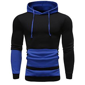 povoljno Muške majice s kapuljačom i trenirke-Muškarci Zabava / Posao Hoodie Color block S kapuljačom
