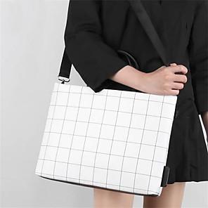 ieftine Cabluri de Adaptor AC & Curent-Femei caiet ipad geanta plaid pu piele mesagerie geantă moda lattice umăr genti computer
