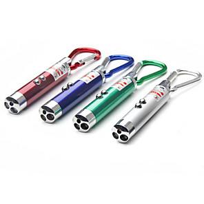 ieftine lanterne-3 buc trei mini-carabină mini lanternă strălucire cu infraroșu laser detector de bani flash led led lanternă mică