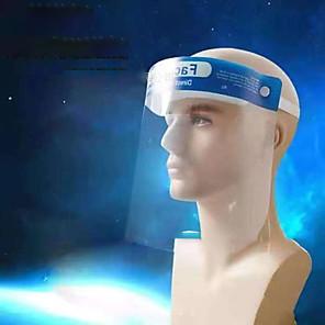 ieftine Masca-pălărie obișnuită anti-splash, pălărie de protecție protector de protecție a muncii ochelari de protecție împotriva prafului pc materii prime cască de siguranță transparentă