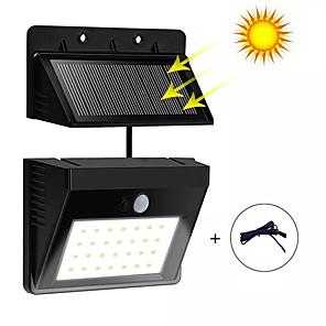 ieftine Abajure Perete-lumină solară de perete despărțită scurtă senzor infraroșu 30led lampă de perete impermeabilă în exterior