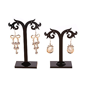 ieftine Cutie de bijuterii și afișaj-Pătrat Cutie de bijuterii - Negru 7 cm 4 cm 13 cm / Pentru femei