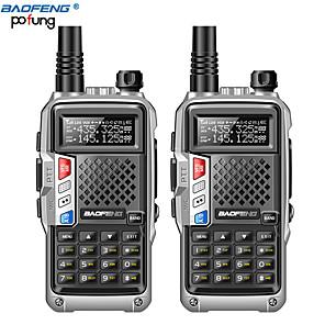 povoljno Waljkie talky uređaji-2pcs baofeng bf-uvb3 plus walkie tokie moćan pršutor radio prijemnik 8w 10 km ručni radio za šumu& Grad