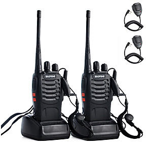 ieftine Walkie Talkies-2 buc walkie talkie baofeng bf-888s 2800mah 16ch uhf 400-470mhz baofeng 888s ham radio hf transceiver amador portabile interfonuri super sunet de calitate