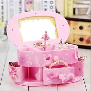 povoljno Kutija i prikaz nakita-Kutija za nakit - Roza 20 cm 10 cm 11 cm / Žene