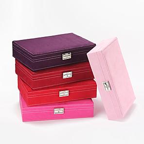 povoljno Kutija i prikaz nakita-Kvadrat Kutija za nakit - Koža Zlatna 28 cm 19 cm 6.5 cm / Žene