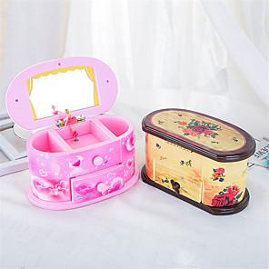 povoljno Kutija i prikaz nakita-Kutija za nakit - drven Žuta, Roza 11 cm 19.5 cm 11 cm / Žene