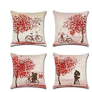 povoljno Bojano-4 kom laneni jastuk pokriva romantični dan zaljubljenih za vjenčanje jastuk bacanje45 * 45 cm