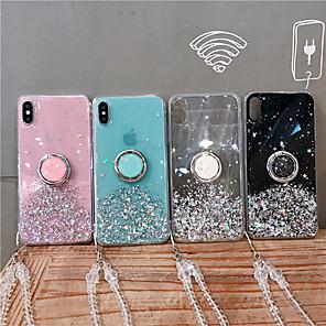 povoljno iPhone maske-Θήκη Za Apple iPhone 11 / iPhone 11 Pro / iPhone 11 Pro Max S tekućinom / Prsten držač Stražnja maska Šljokice TPU