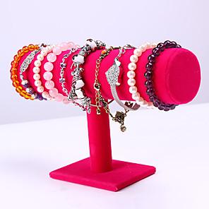 ieftine Cutie de bijuterii și afișaj-Rotund Prezentări de Bijuterii - De lemn Roz 23.6 cm 7 cm 14 cm / Pentru femei