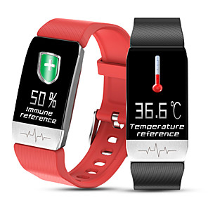 povoljno Muški satovi-T1 Uniseks Termometri Smart Wristbands Android iOS Bluetooth Ekran na dodir Heart Rate Monitor Mjerenje krvnog tlaka Kalorija Termometri EKG + PPG Brojač koraka Mjerač aktivnosti Mjerač sna sjedeći
