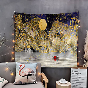 povoljno Zidni ukrasi-kuća živi slika planinski tapiserija zid viseća tapiserije zidni pokrivač zid umjetnosti zidni dekor moda crtani planinski zidni dekor