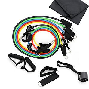 ieftine Accesorii Fitness-Set Benzi de Rezistență 11 pcs 5 benzi de exerciții stivuibile Ancora de ancorare Picioare curele de glezne Sport TPE Pilates Fitness Gimnastică antrenament Ajustabil Durabil Antrenament de