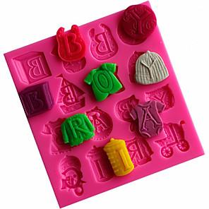 ieftine Ustensile & Gadget-uri de Copt-îmbrăcăminte pentru copii formă formă mucegai decorațiune instrument de gătit silicon 1 buc