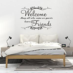 hesapli Dekorasyon Etiketleri-Oturma odası için pvc duvar kağıdı yeni moda karşılama arkadaş sanat vinil duvar ev odası dekor duvar çıkartmaları