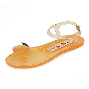 povoljno Samsung oprema-Žene Sandale Ravna potpetica Otvoreno toe PVC Ljeto Bijela / Pink / Zelen