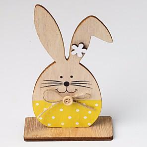 ieftine Breloage-obiecte decorative de iepuras de paste, plastic modern contemporan pentru cadouri pentru decorarea casei 1 buc