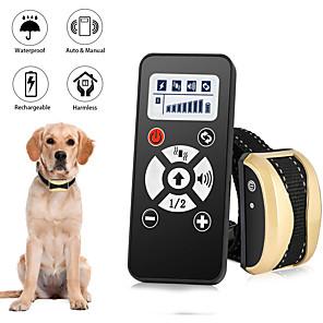 ieftine Câini Gulere, hamuri și Curelușe-Dresaj câine Guler de șoc Wireless Multifuncțional Câini Animale de Companie Impermeabil Fără fir Electronic / Electric Electronic Ajutoare Comportament Pentru animale de companie