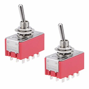 ieftine Conectoare & Terminale-2pcs mts-402 6a / 125vac 2a / 250vac 12 pini 4pdt on / on 2 poziție comutator basculant