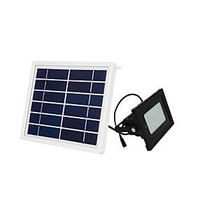 ieftine Proiectoare LED-1 buc 10 W Proiectoare LED / Led Street Street Rezistent la apă / Controlat de la distanță / Controlul luminii Alb Cald / Alb Rece 3.7 V Lumina Exterior / Curte / Grădină 54 LED-uri de margele ziua