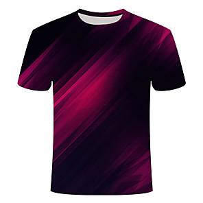 povoljno Muške majice i potkošulje-Majica s rukavima Muškarci - Osnovni Dnevno / Izlasci 3D / Sažetak Print Crn