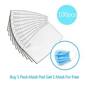 ieftine Produse de curățat-100pcs filtru de carbon mască de unică folosință garnitură izolator garnitură filtru anti-ceață rezistentă la praf mască respirabilă înlocuire garnitură lenjerie bumbac amestec