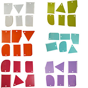 ieftine Ustensile & Gadget-uri de Copt-6 bucăți de plastic trapezoidale semi-arc triunghiular cu bricheta cremă de tort pentru răzuitor instrument de bucătărie