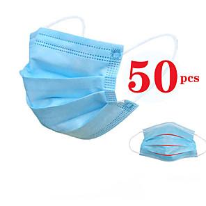 olcso Vérnyomás-50 pcs Arc maszk Vízálló Eldobható Védelem Nemszőtt kelme CE Tanúsítvány Fehér