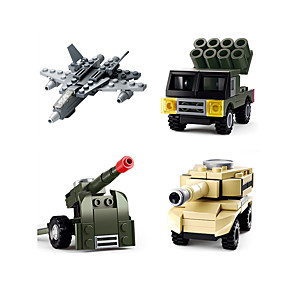 cheap Stacking Blocks-Building Blocks Construction Set Toys Educational Toy Vehicles compatible Legoing Decompression Toys Parent-Child Interaction Military Vehicle Police car Boys' Girls' Toy Gift