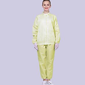 povoljno Pribor za čišćenje-1 set antistatičke radne odjeće zaštitni kombinezon s kapuljačom od prašine podijeljen čistom radnom odjećom